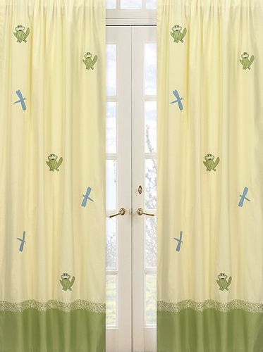 Little Froggy Window Treatment Panels - Set of 2 - Click to enlarge