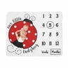 Little Ladybug Girl Milestone Blanket Monthly Newborn First Year Growth Mat Baby Shower Memory Keepsake Gift Picture by Sweet Jojo Designs - Red Black and White Polka Dot