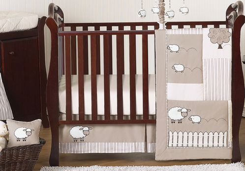 Little Lamb Baby Bedding - 11pc Crib Set by Sweet Jojo Designs - Click to enlarge