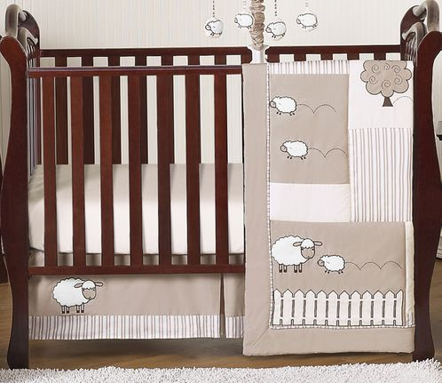 Little Lamb Baby Bedding - 4pc Crib Set by Sweet Jojo Designs - Click to enlarge
