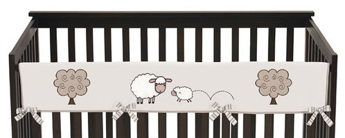 Little Lamb Baby Crib Long Rail Guard Cover by Sweet Jojo Designs - Click to enlarge