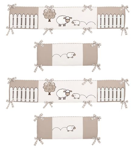 Little Lamb Collection Crib Bumper by Sweet Jojo Designs - Click to enlarge