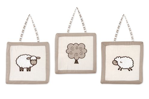 Little Lamb Wall Hanging Accessories by Sweet Jojo Designs - Click to enlarge