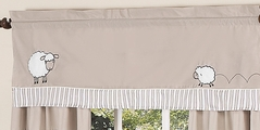 Little Lamb Window Valance by Sweet Jojo Designs