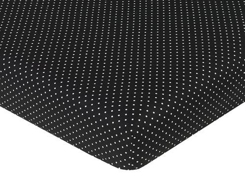 Madison Fitted Crib Sheet for Baby/Toddler Bedding - Polka Dots - Click to enlarge