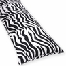 Microsuede Zebra Animal Print Full Length Double Zippered Body Pillow Cover