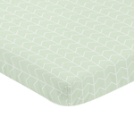 Mint and White Chevron Arrow Baby Fitted Mini Portable Crib Sheet for Watercolor Elephant Safari Collection by Sweet Jojo Designs