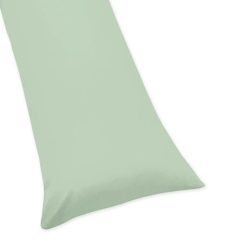 Mint Full Length Double Zippered Body Pillow Case Cover by Sweet Jojo Designs - Click to enlarge
