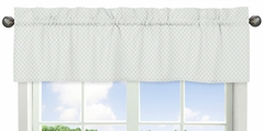 Mint Green and White Lattice Window Treatment Valance for Woodland Deer Floral Collection by Sweet Jojo Designs