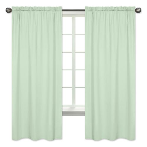 Mint Green Window Treatment Panels by Sweet Jojo Designs - Set of 2 - Click to enlarge
