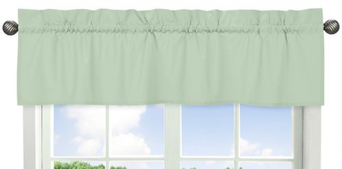 Mint Green Window Valance by Sweet Jojo Designs - Click to enlarge