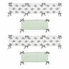 Mint, Grey and White Baby Crib Bumper Pad for Watercolor Elephant Safari Collection by Sweet Jojo Designs