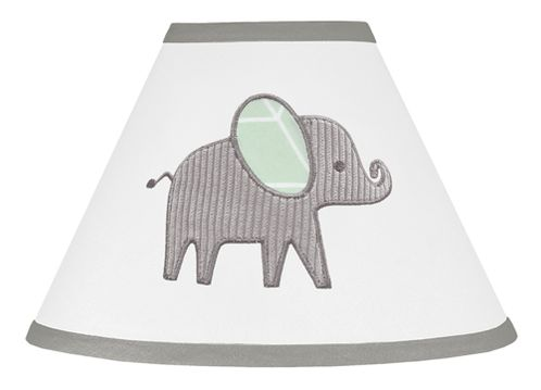 Mint, Grey and White Lamp Shade for Watercolor Elephant Safari Collection by Sweet Jojo Designs - Click to enlarge