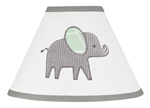 Mint, Grey and White Lamp Shade for Watercolor Elephant Safari Collection by Sweet Jojo Designs