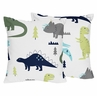Mod Dino Decorative Accent Throw Pillow Case Covers by Sweet Jojo Designs - Set of 2 (Inserts Not Included) - Blue, Green and Grey Modern Dinosaur