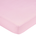 Mod Dots Pink and Brown Fitted Crib Sheet for Baby and Toddler Bedding Sets by Sweet Jojo Designs - Mini Dot