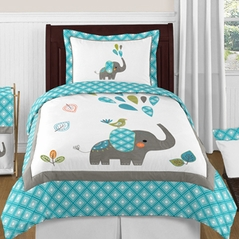 Mod Elephant 4pc Twin Bedding Set by Sweet Jojo Designs