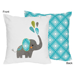 Mod Elephant Decorative Accent Throw Pillow by Sweet Jojo Designs