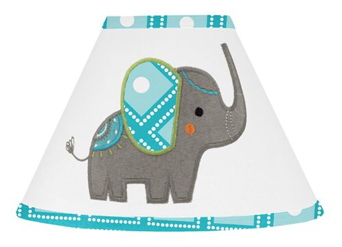Mod Elephant Lamp Shade by Sweet Jojo Designs - Click to enlarge