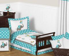 Mod Elephant Toddler Bedding - 5pc Set by Sweet Jojo Designs