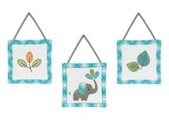 Mod Elephant Wall Hanging Accessories by Sweet Jojo Designs