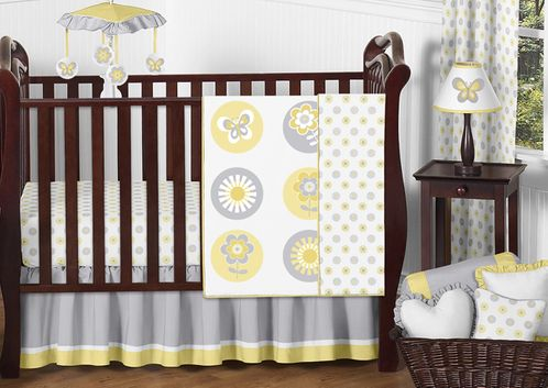 Mod Garden Baby Bedding - 11pc Crib Set by Sweet Jojo Designs - Click to enlarge