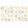 Mod Garden Baby, Childrens and Kids Wall Decal Stickers by Sweet Jojo Designs - Set of 4 Sheets