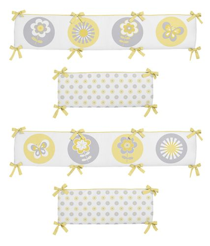 Mod Garden Collection Crib Bumper by Sweet Jojo Designs - Click to enlarge