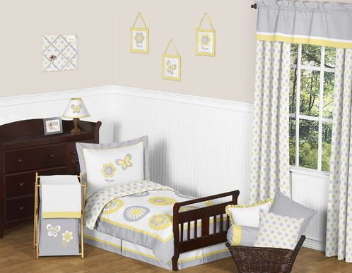 Mod Garden Toddler Bedding - 5pc Set by Sweet Jojo Designs - Click to enlarge