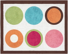 Modern Deco Dot Accent Floor Rug
