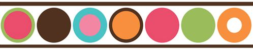 Modern Deco Dot Children and Kids Wall Border by Sweet Jojo Designs - Click to enlarge