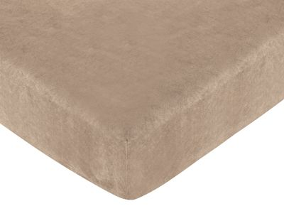 Monkey Fitted Crib Sheet for Baby/Toddler Bedding Sets - Camel Microsuede - Click to enlarge