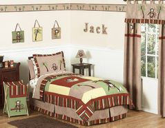 Monkey Kids Bedding - 4pc Boys Twin Set