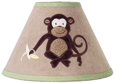 Monkey Lamp Shade by Sweet Jojo Designs - Click to enlarge