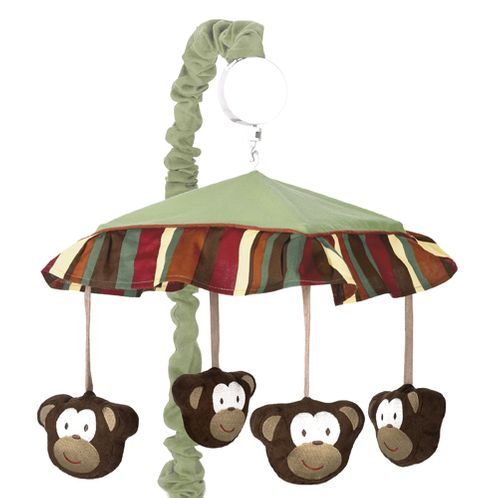 Monkey Musical Baby Crib Mobile by Sweet Jojo Designs - Click to enlarge