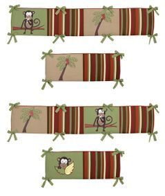 Monkey Time Collection Crib Bumper by Sweet Jojo Designs