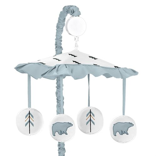 Musical Baby Crib Mobile for Bear Mountain Watercolor Collection by Sweet Jojo Designs - Click to enlarge