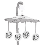 Musical Baby Crib Mobile for Black and White Fox Collection by Sweet Jojo Designs