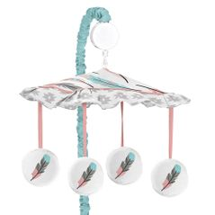 Musical Baby Crib Mobile for Feather Collection by Sweet Jojo Designs