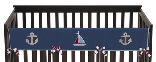 Nautical Nights Baby Crib Long Rail Guard Cover by Sweet Jojo Designs - Click to enlarge