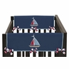 Nautical Nights Baby Crib Side Rail Guard Covers by Sweet Jojo Designs - Set of 2