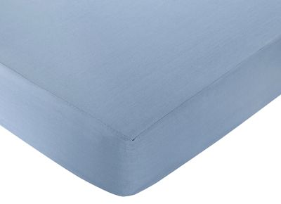 Nautical Nights Fitted Crib Sheet Baby/Toddler Bedding - Chambray Blue - Click to enlarge