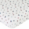 Nautical Nights Fitted Crib Sheet Baby/Toddler Bedding - Mini Print
