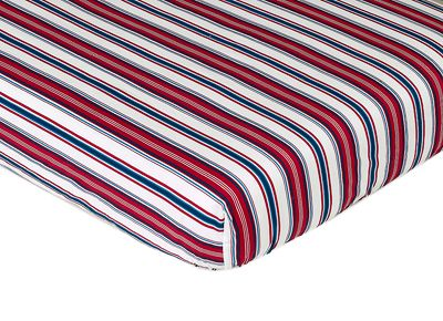 Nautical Nights Fitted Crib Sheet Baby/Toddler Bedding - Stripe Print - Click to enlarge