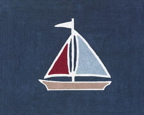 Nautical Nights Sailboat Accent Floor Rug - Click to enlarge