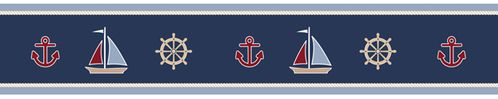 Nautical Nights Sailboat Baby and Kids Wall Border by Sweet Jojo Designs - Click to enlarge
