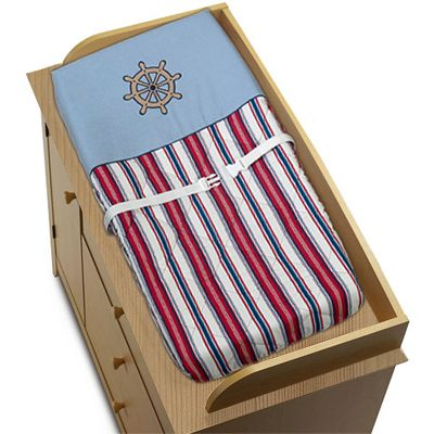 Nautical Nights Sailboat Boys Changing Pad Cover - Click to enlarge