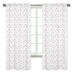 Nautical Nights Sailboat Collection Window Treatment Panels by Sweet Jojo Designs - Set of 2