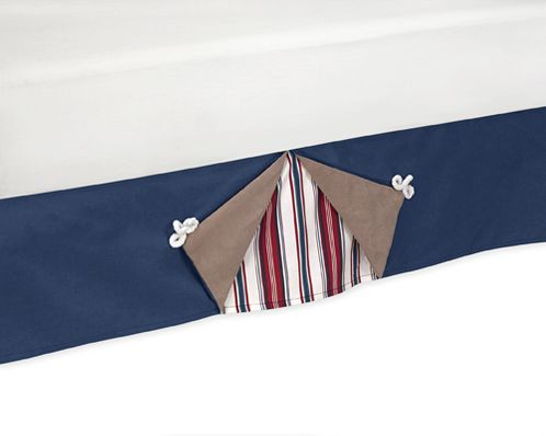Nautical Nights Sailboat Queen Bed Skirt by Sweet Jojo Designs - Click to enlarge