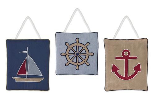 Nautical Nights Sailboat Wall Hanging Accessories by Sweet Jojo Designs - Click to enlarge